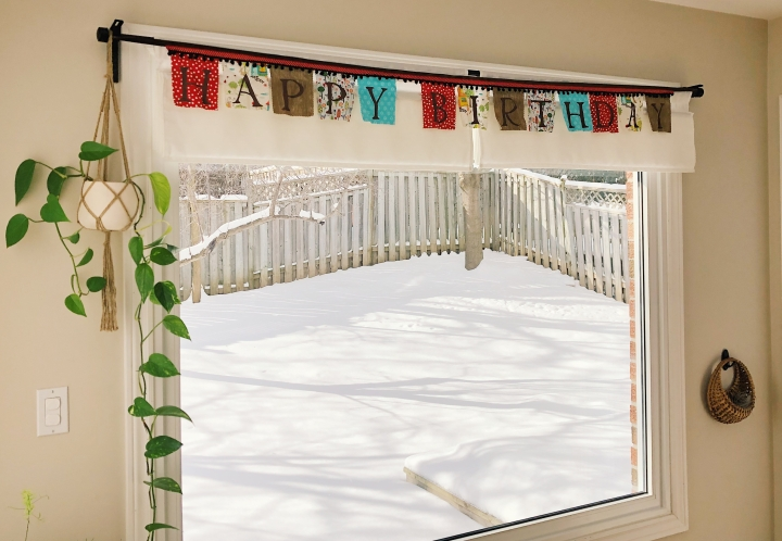 """Happy Birthday"" cloth bunting"